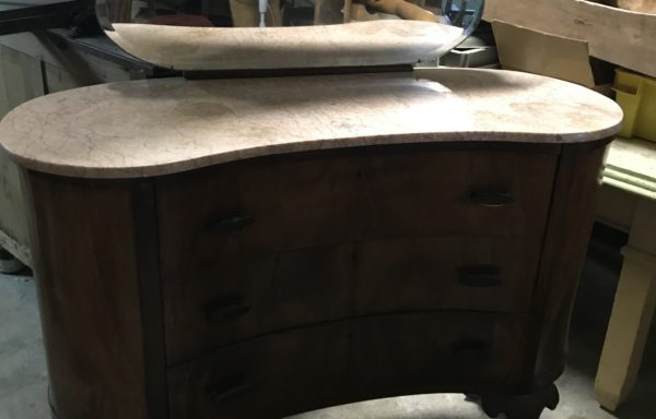 Chest of Drawers with Marbletop and Mirror